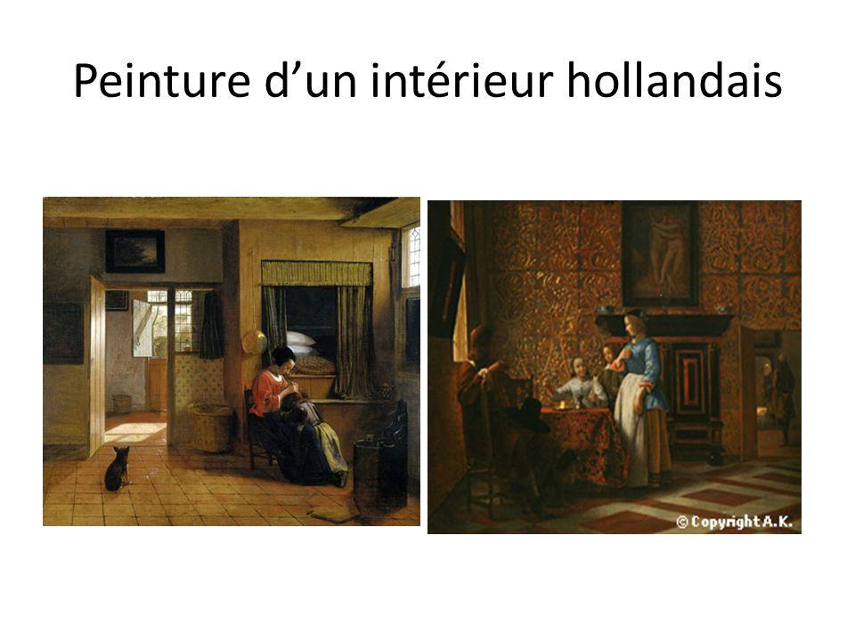 Peinture dun intérieur hollandais