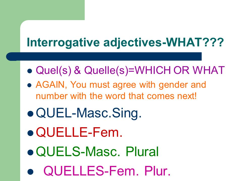 Heres some sentences to practice: 1.Regarde ____CDs! (these) 2. Je vais acheter ____cravate. (This-F) 3. Tu voudrais ____chapeau? (This-M) 4. Jadore _