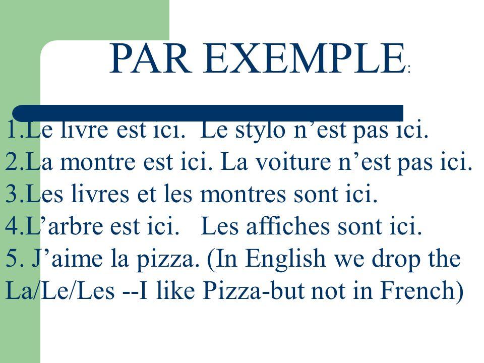 BUT With MASCULINE words-YES.THERE IS A CONTRACTION: Au/Du Le café Voici le café.