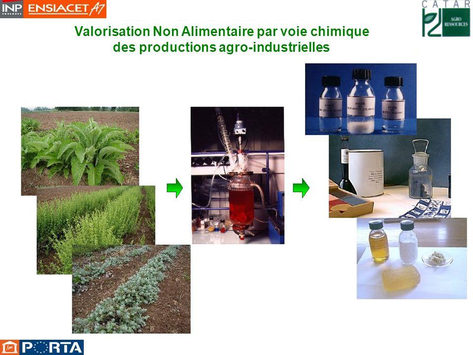 Valorisation Non Alimentaire par voie chimique des productions agro-industrielles