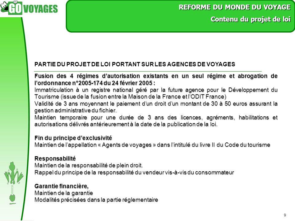 9 Fusion des 4 régimes dautorisation existants en un seul régime et abrogation de lordonnance n°2005-174 du 24 février 2005 : Immatriculation à un reg