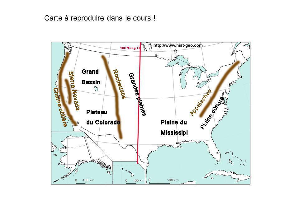 Les Etats-Unis : LE CLIMAT Sauf au nord ouest, Aridité à louest du 100 ème méridien Humidité à lest du 100 ème méridien air polaire air tropical