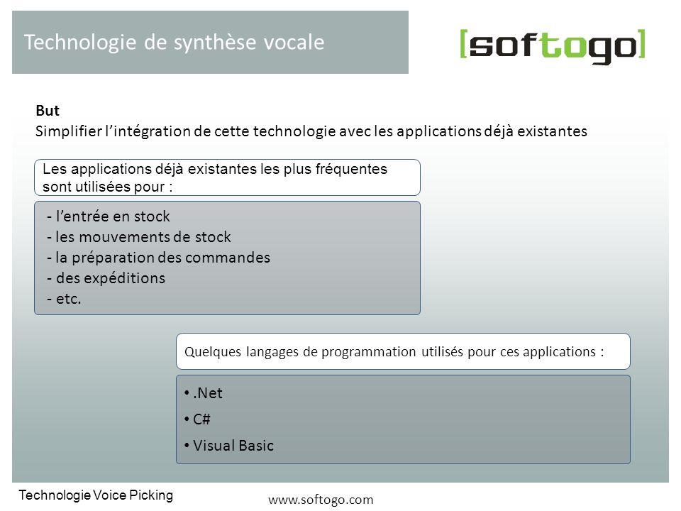 But Simplifier lintégration de cette technologie avec les applications déjà existantes Technologie de synthèse vocale - lentrée en stock - les mouveme