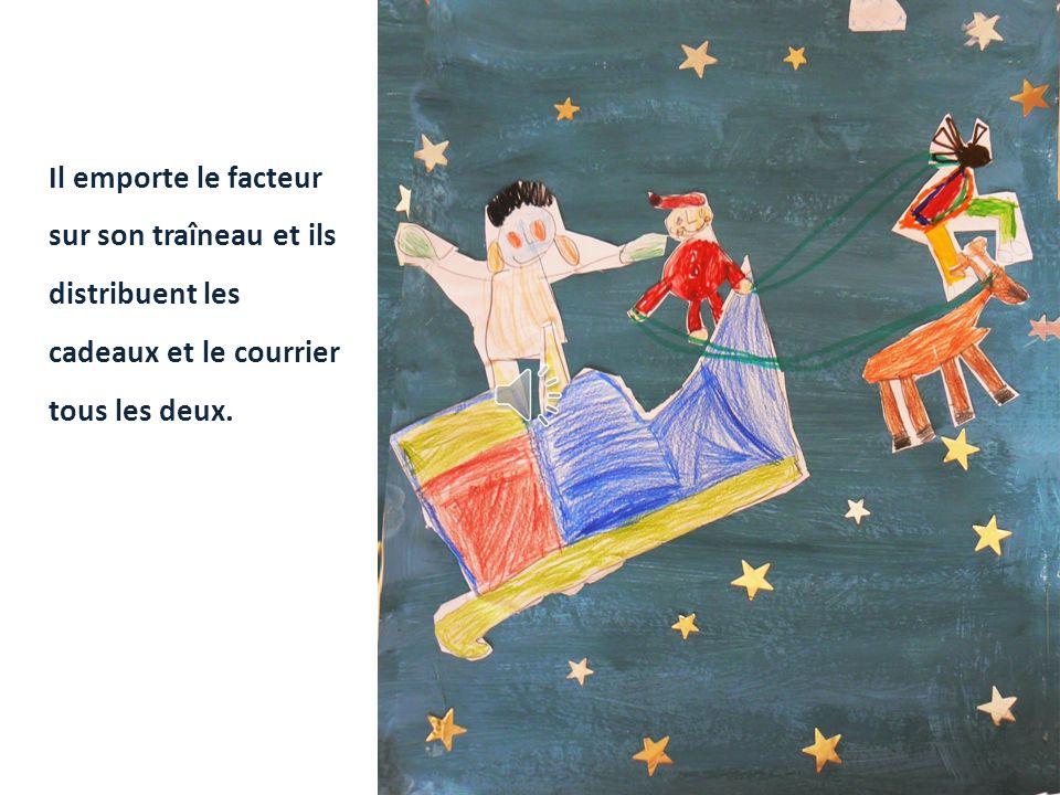 Tristan atterrit sur la plage, et là, il rencontre le Père Noël.