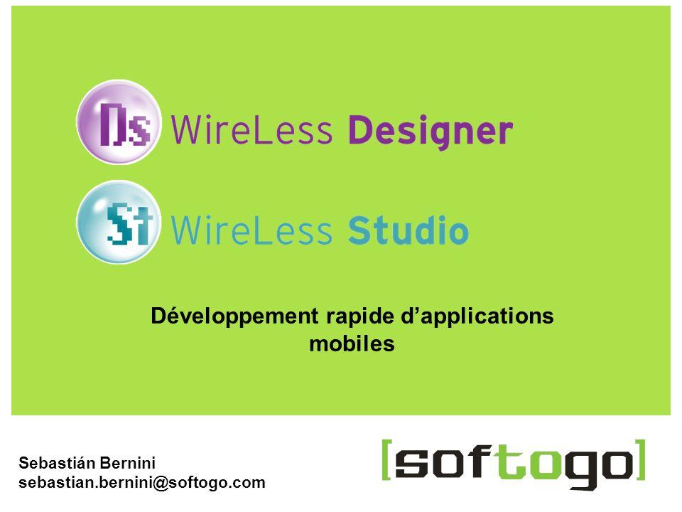 1WireLess Designer www.softogo.com Sebastián Bernini sebastian.bernini@softogo.com Développement rapide dapplications mobiles