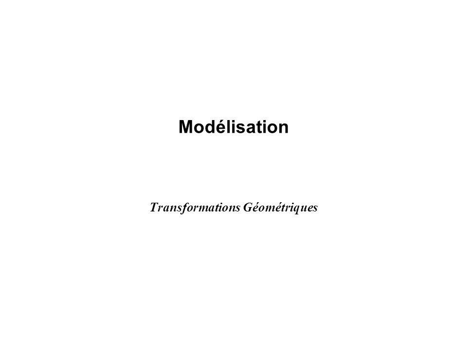 Modélisation Transformations Géométriques