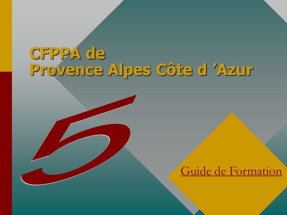CFPPA de Provence Alpes Côte d Azur Guide de Formation