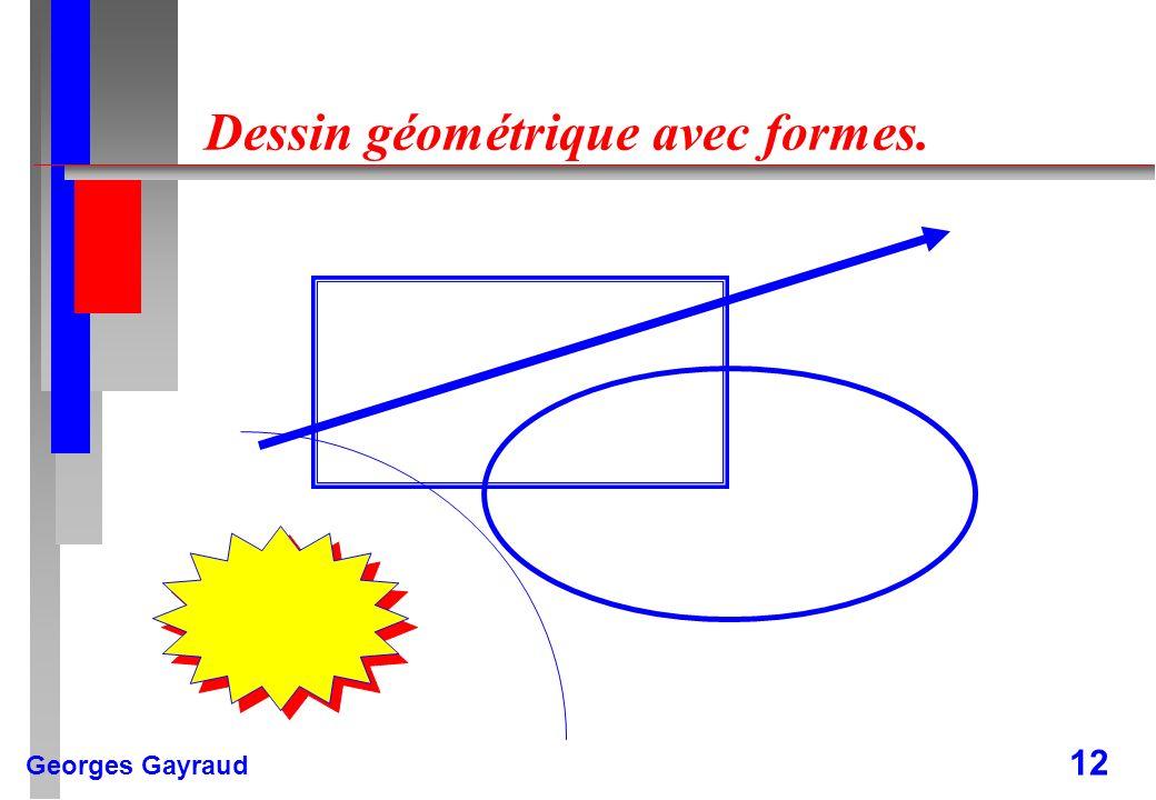 Georges Gayraud 12 Dessin géométrique avec formes.