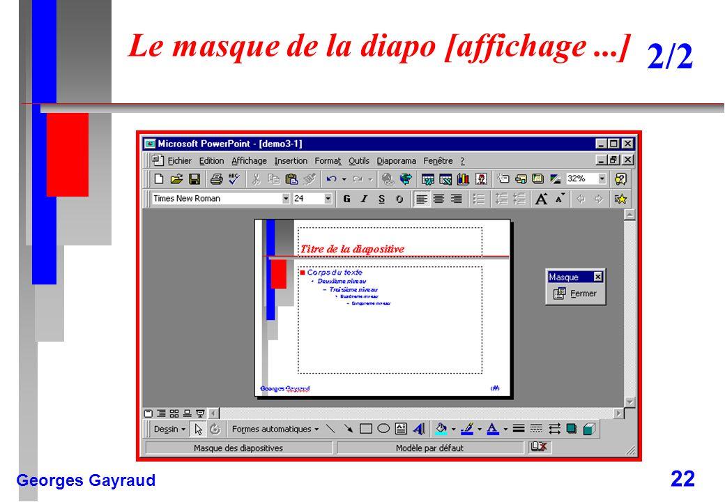 Georges Gayraud 22 Le masque de la diapo [affichage...] 2/2
