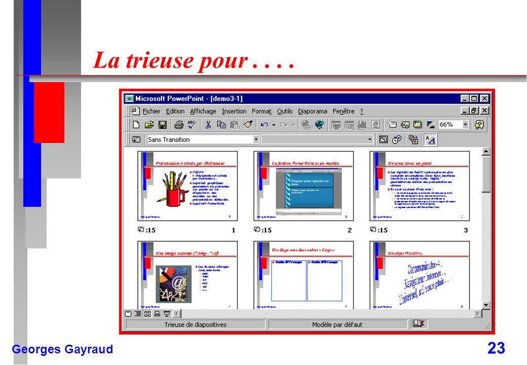 Georges Gayraud 23 La trieuse pour....