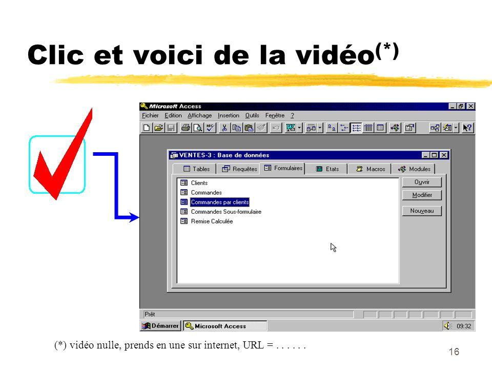 15 Clic et Hop, vers le WEB..