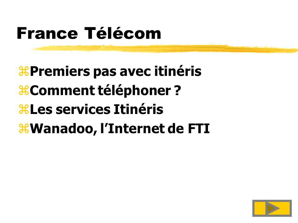 Itinéris et Wanadoo par France Télécom Guide pratique janvier 1998