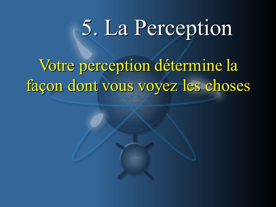 5. La Perception Votre perception détermine la façon dont vous voyez les choses