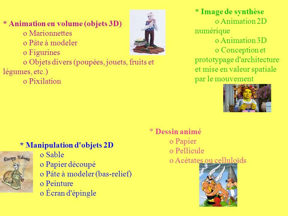 * Image de synthèse o Animation 2D numérique o Animation 3D o Conception et prototypage d'architecture et mise en valeur spatiale par le mouvement * A