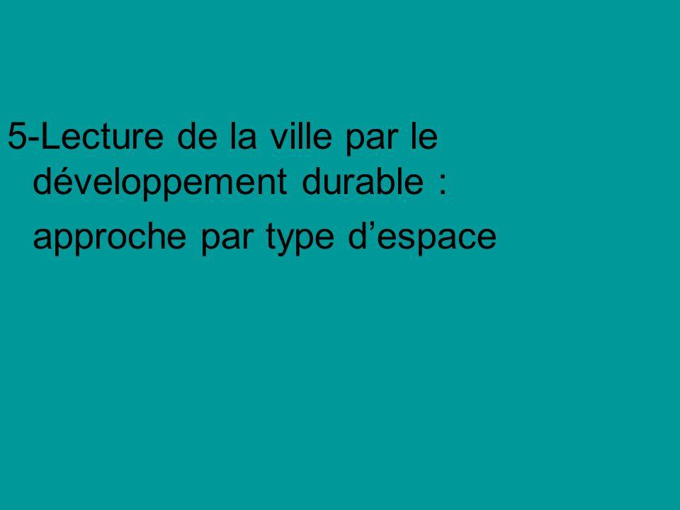 5-Lecture de la ville par le développement durable : approche par type despace