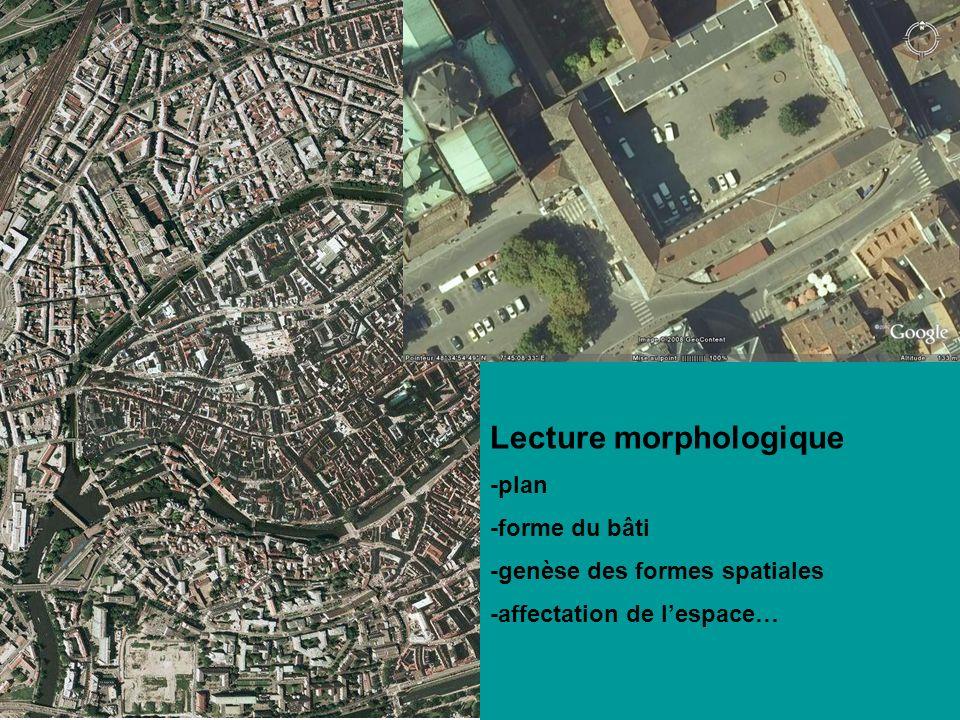 Lecture morphologique -plan -forme du bâti -genèse des formes spatiales -affectation de lespace…