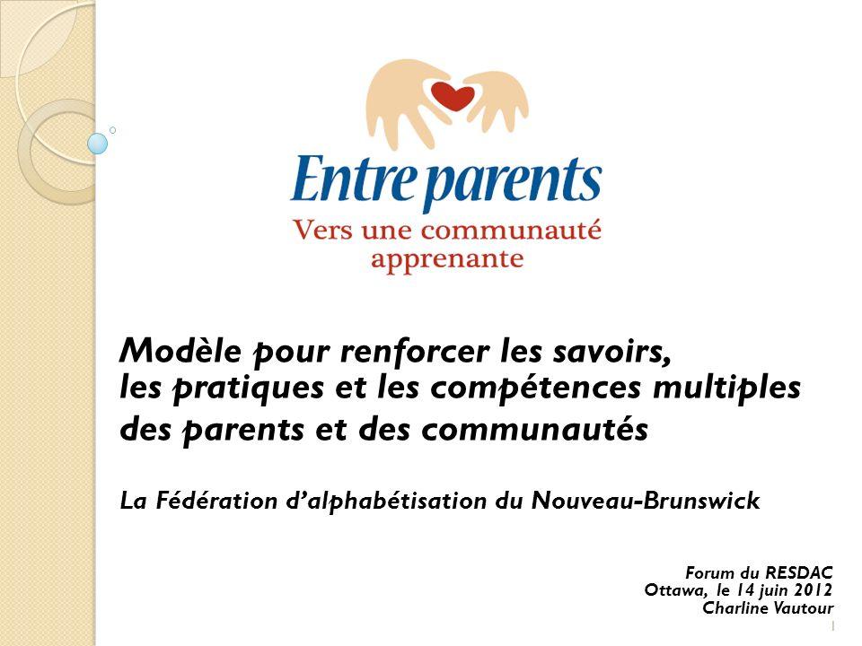 Modèle pour renforcer les savoirs, les pratiques et les compétences multiples des parents et des communautés La Fédération dalphabétisation du Nouveau