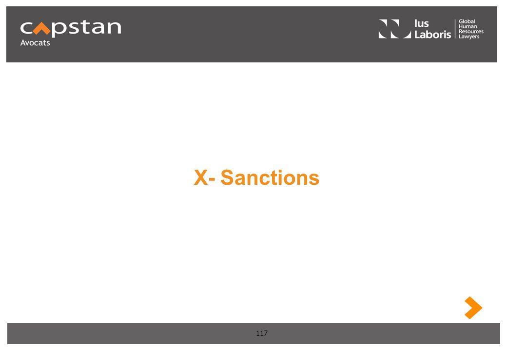 117 X- Sanctions