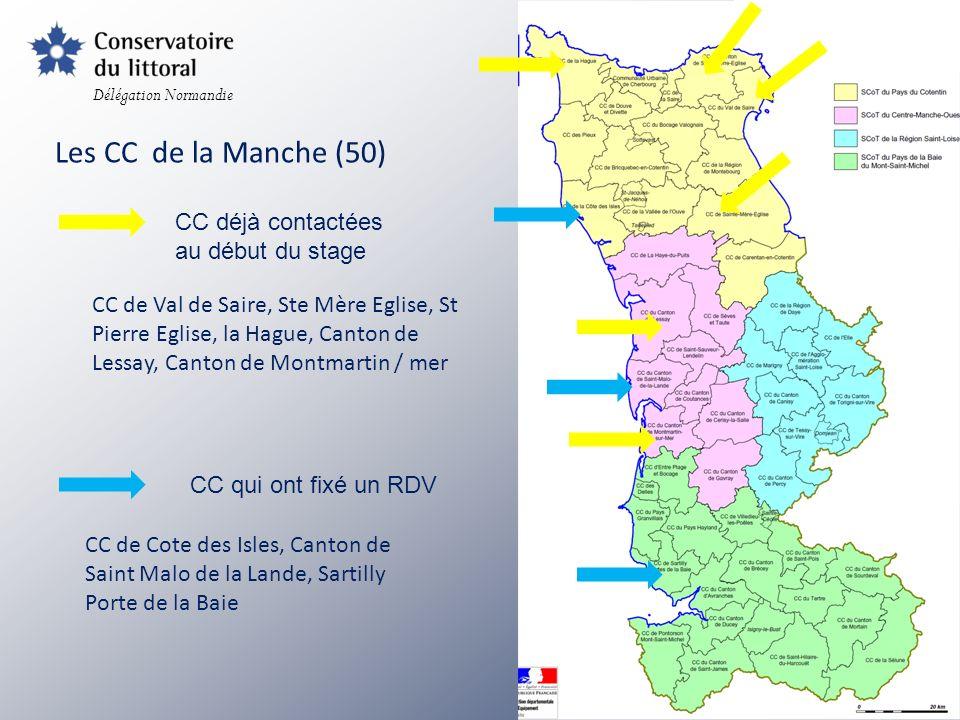 Délégation Normandie Les CC du Calvados (14) CC qui ont fixé un RDV CC déjà contactées au début du stage CC Bessin Seulles mer Trévières CaBalOr Coeur cote fleurie