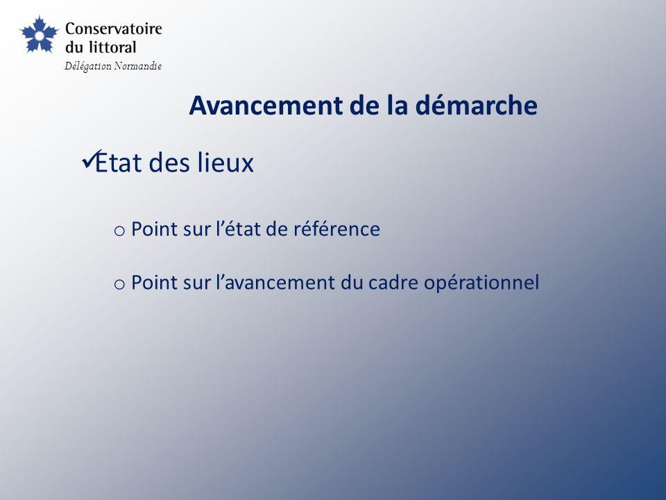Construction du réseau : o Contacts avec les communautés de communes o Contacts avec les réserves naturelles o Reconnaissance du réseau par lEtat o Envoi de convention Délégation Normandie