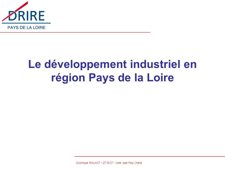 Dominique MAILHOT – 27 09 07 - Visite Jean Paul Charié Le développement industriel en région Pays de la Loire