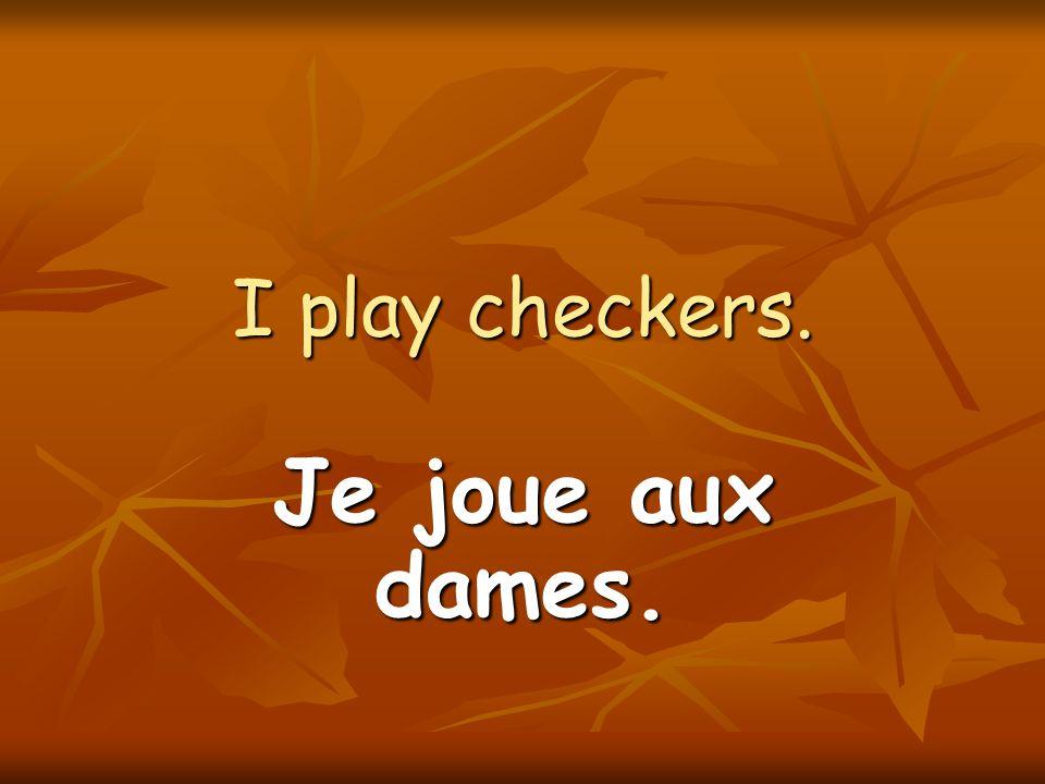 I also play the flute. Je joue de la flûte aussi.