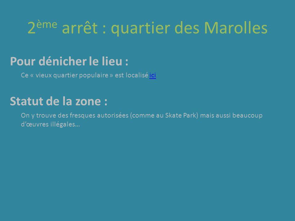 2 ème arrêt : quartier des Marolles Pour dénicher le lieu : Ce « vieux quartier populaire » est localisé iciici Statut de la zone : On y trouve des fr