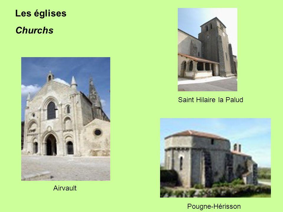 Pougne-Hérisson Airvault Saint Hilaire la Palud Les églises Churchs