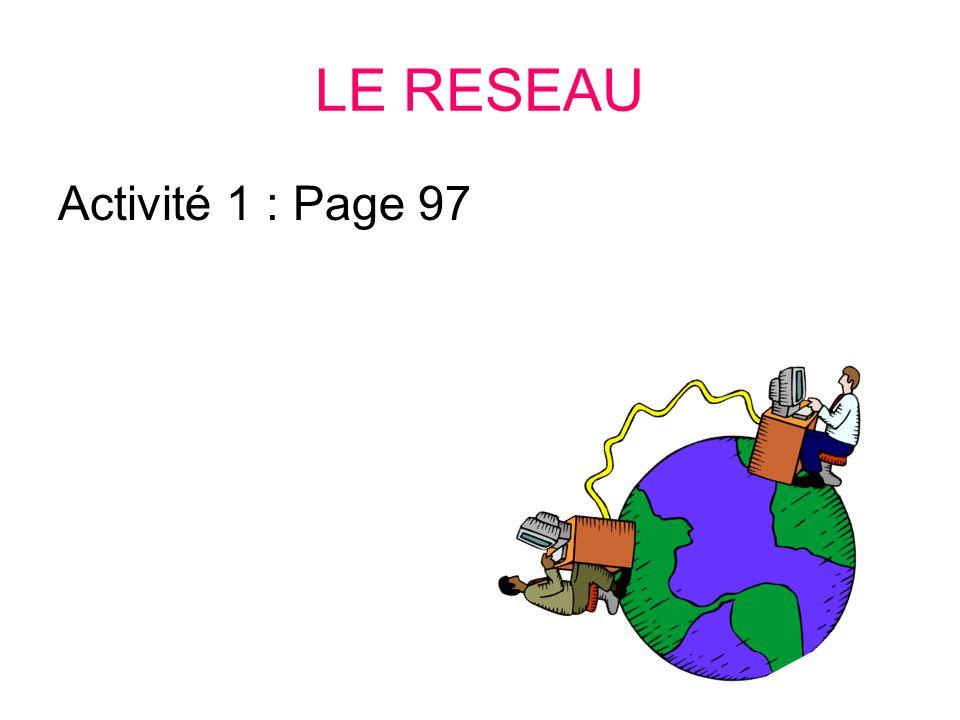 LE RESEAU INTERNET Présentation Les Services dInternet (Web) Projet
