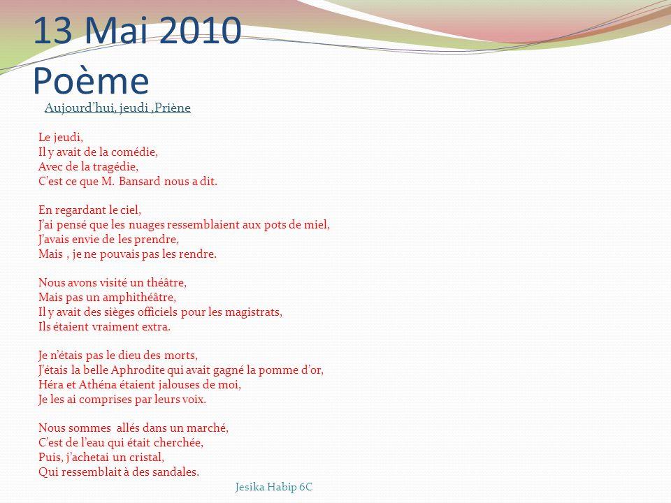 12 Mai 2010 Dialogue à Pergame - Aujourdhui, je me suis beaucoup amusée !.