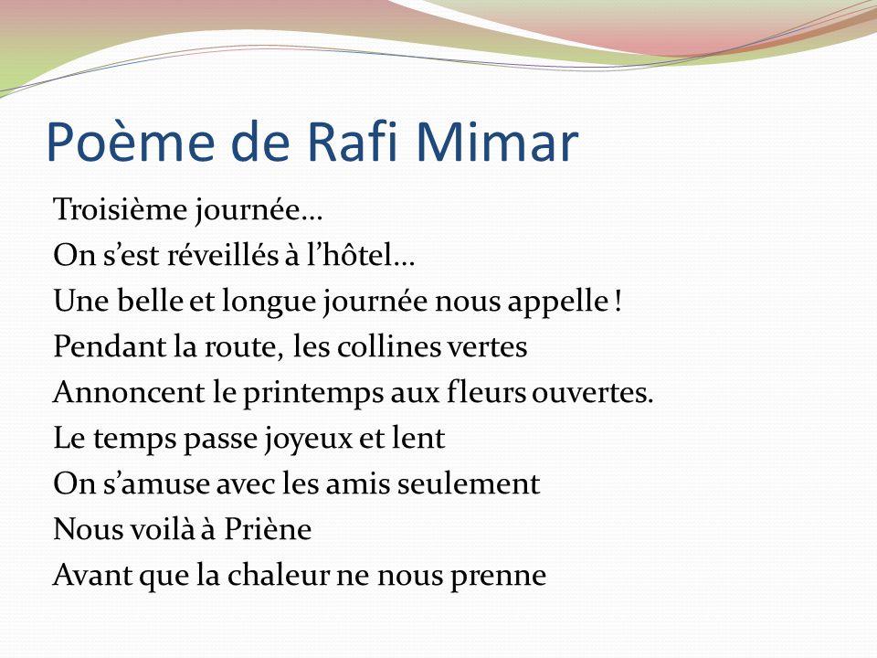 13 Mai 2010 Poème Aujourdhui, jeudi,Priène Le jeudi, Il y avait de la comédie, Avec de la tragédie, Cest ce que M.