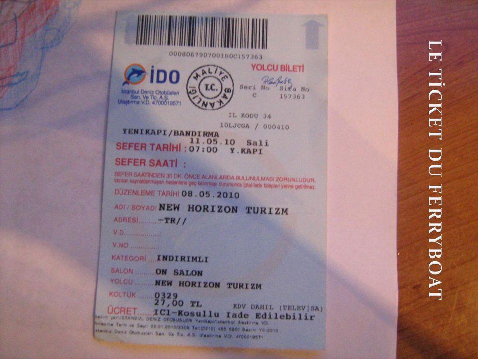 Les tickets que nous avons utilisés pendant le voyage