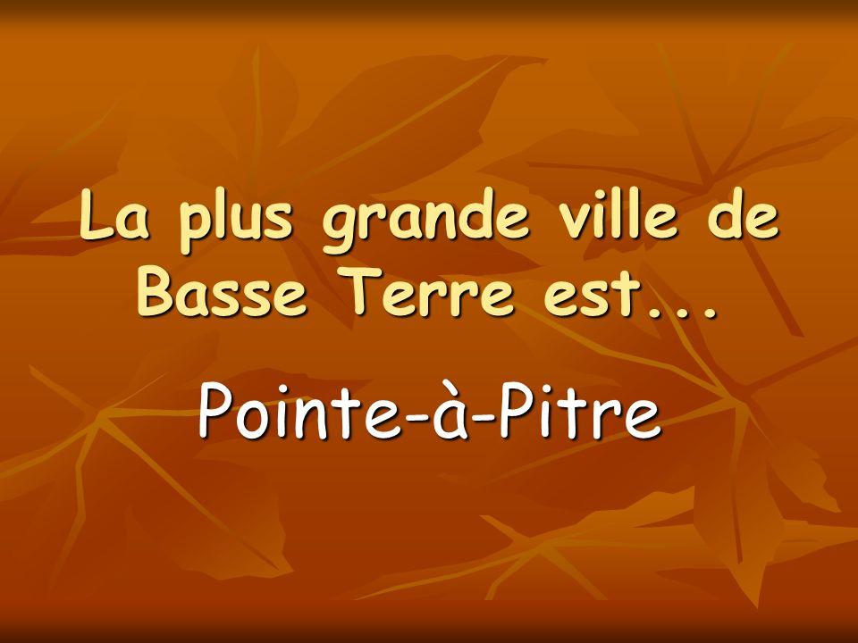 La plus grande ville de Basse Terre est... Pointe-à-Pitre