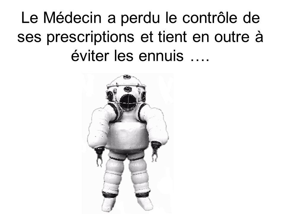 Le Médecin a perdu le contrôle de ses prescriptions et tient en outre à éviter les ennuis ….