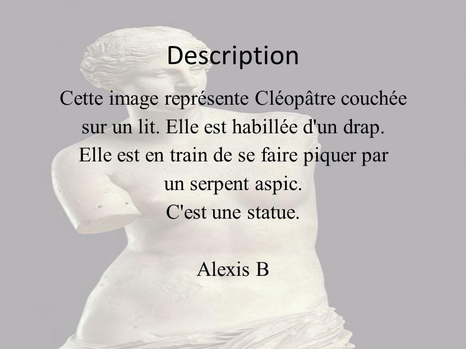 Notice © Musée du Louvre/P. Philibert Ce document est rattaché à : Cléopâtre mourant François BAROIS M.R 1756