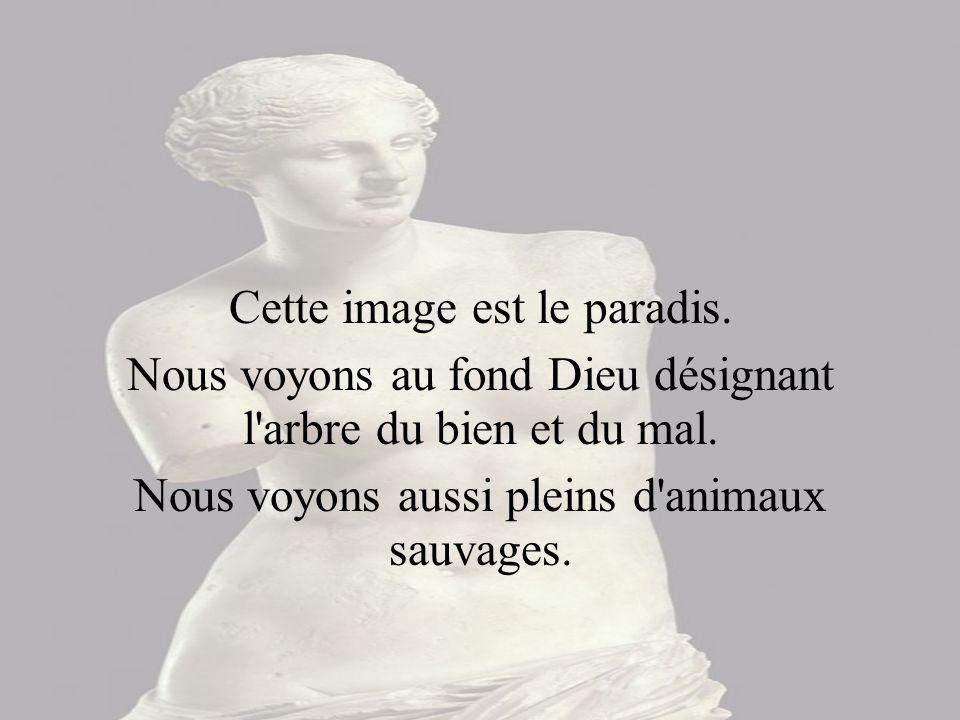 La statue de marbre représente Cléopâtre se suicidant par la piqûre d un aspic, après sa défaite.