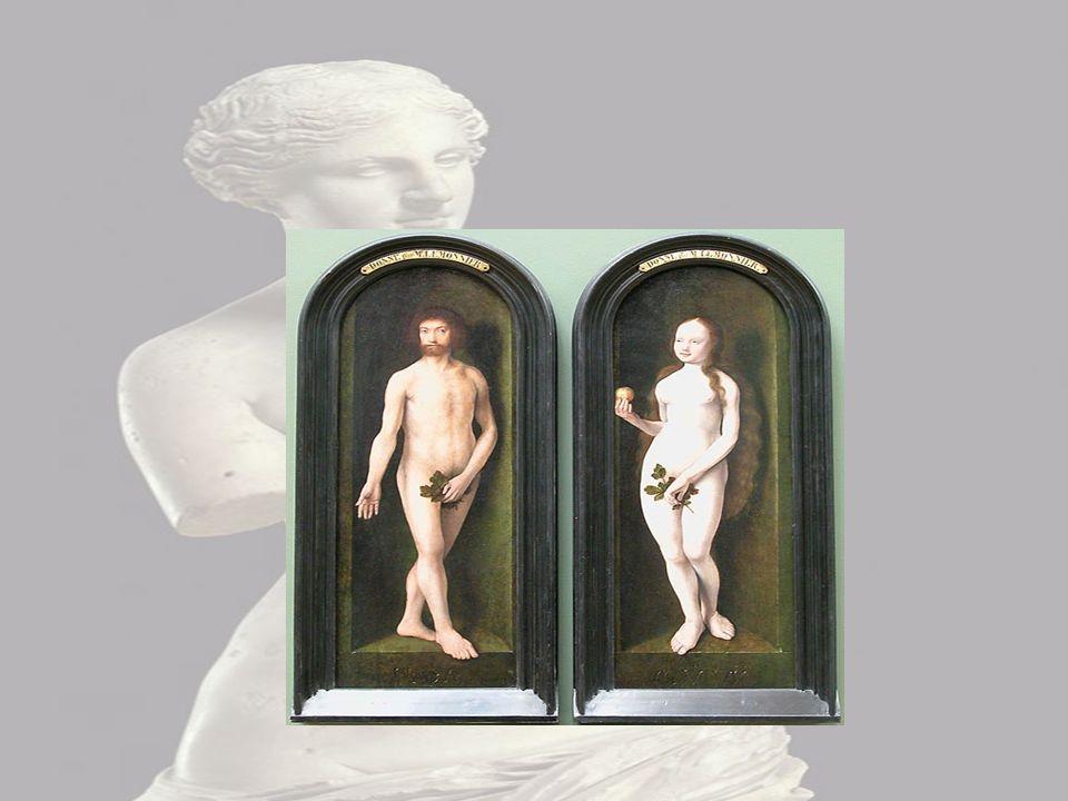 Adam et Eve Sur cette image je distingue Adam et Eve nue je le sais car Eve tien une pomme.