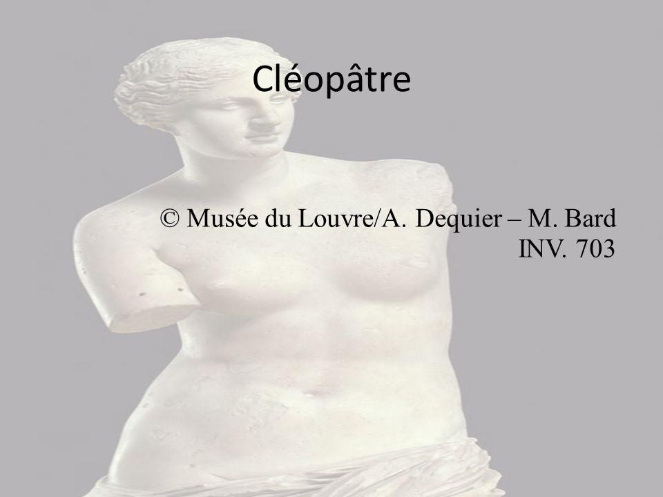Sur cette image, on peut voir Marc-Antoine qui s'est suicidé et Cléopâtre qui vient de se donner la mort. Le tableau datant de la Renaissance, elle ne