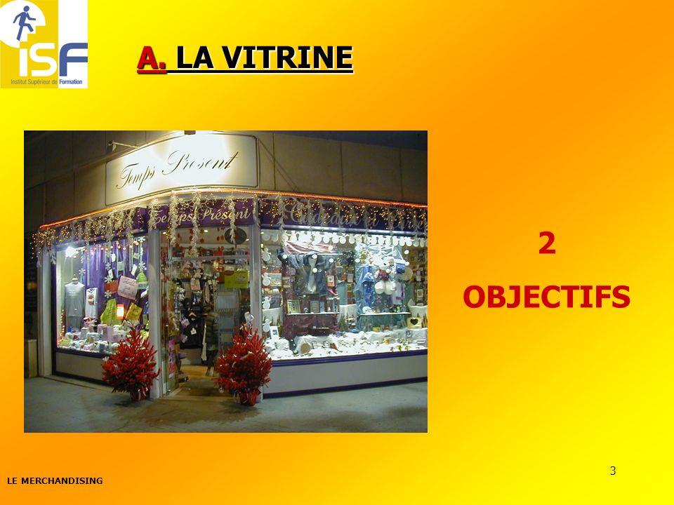 LE MERCHANDISING 3 A. LA VITRINE 2 OBJECTIFS