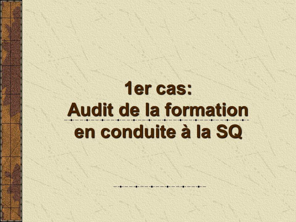 1er cas: Audit de la formation en conduite à la SQ