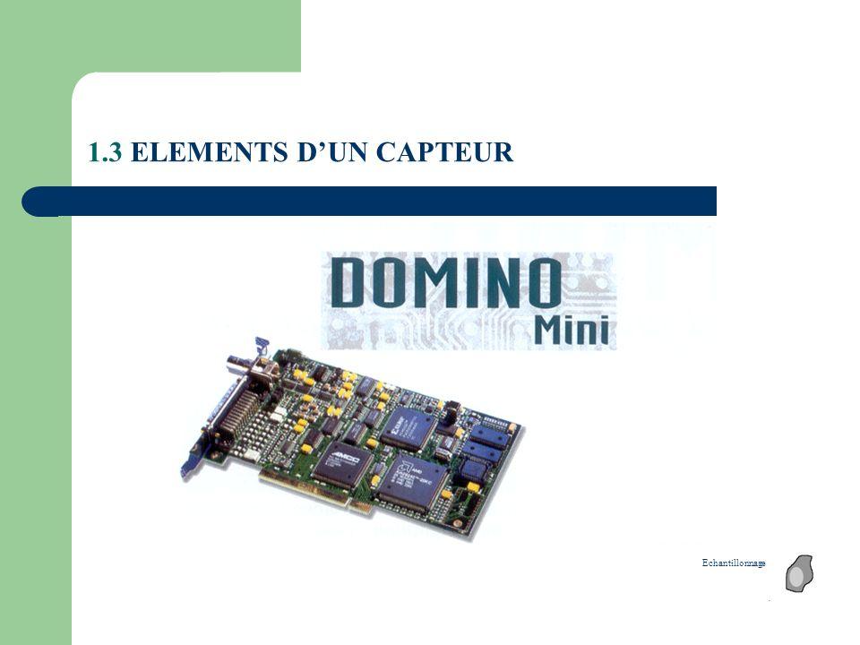 1.3 ELEMENTS DUN CAPTEUR Echantillonnage