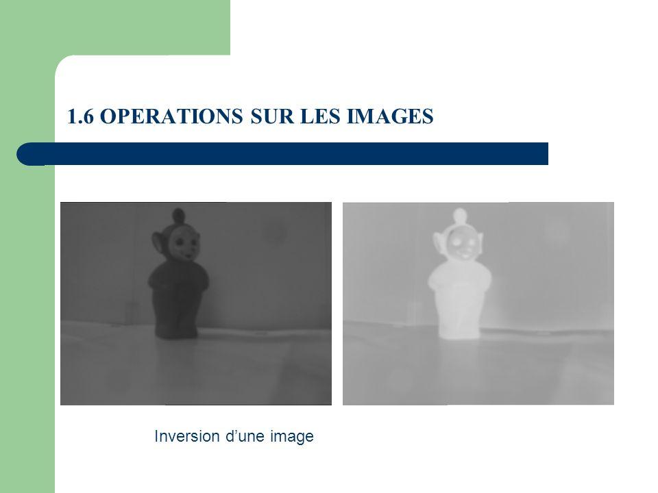 1.6 OPERATIONS SUR LES IMAGES Inversion dune image