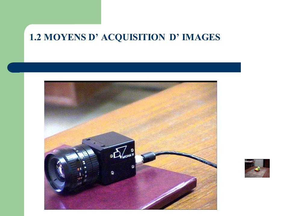 1.6 OPERATIONS SUR LES IMAGES Soustraction Image1(n,m)-Image2(n,m)=Image3(n,m) Image3(i,j)=Image1(i,j)-Image2(i,j)