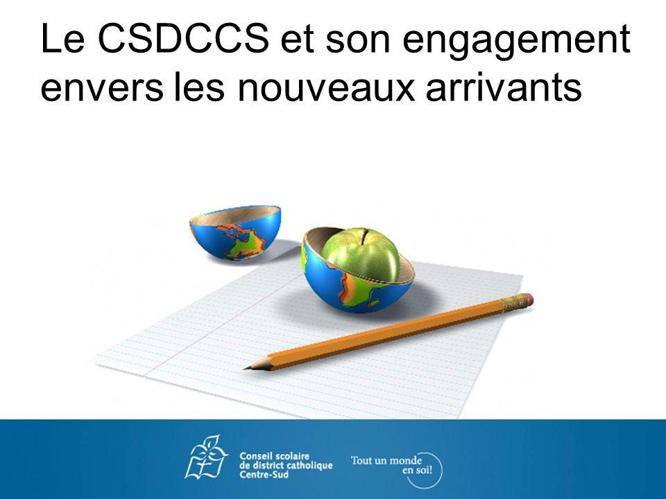Le Conseil scolaire de district catholique Centre-Sud (CSDCCS) Le CSDCCS accueille plus de 14 500 élèves au sein de 42 écoles élémentaires et 9 écoles secondaires sur un territoire sétendant de la péninsule du Niagara à Peterborough et du lac Ontario (Toronto) à la baie Georgienne.