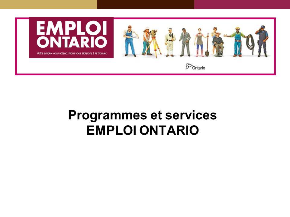 Programmes et services EMPLOI ONTARIO