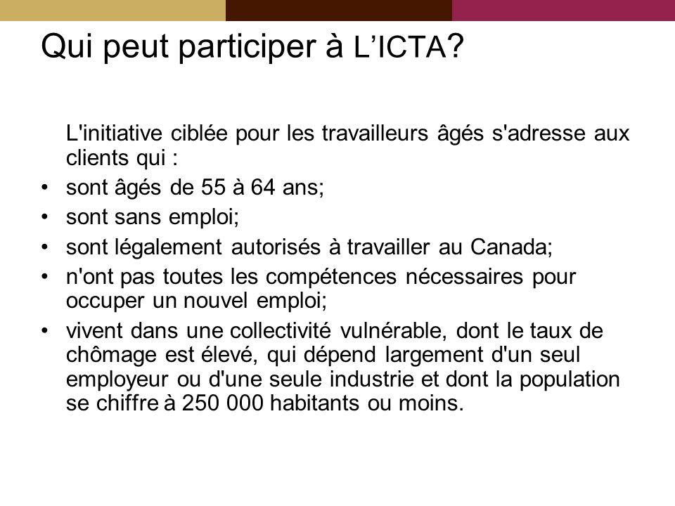 Qui peut participer à LICTA .