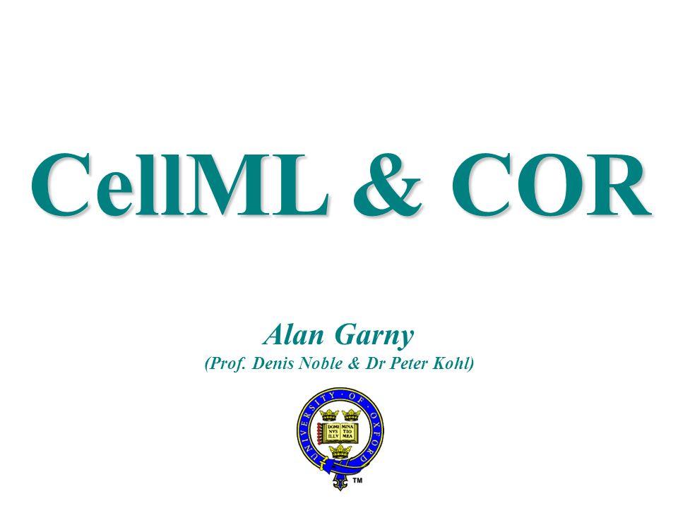 CellML & COR Alan Garny (Prof. Denis Noble & Dr Peter Kohl)