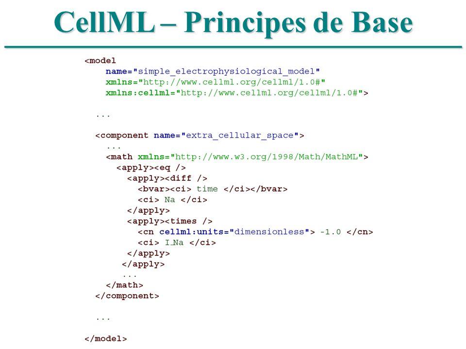 ______________________________ CellML – Principes de Base