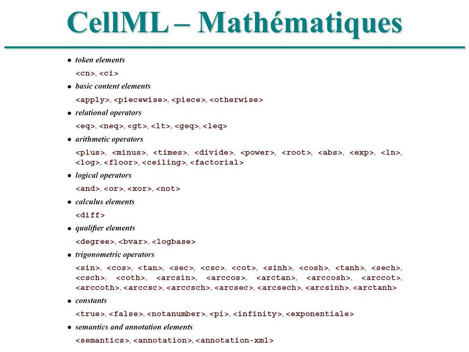 ______________________________ CellML – Mathématiques