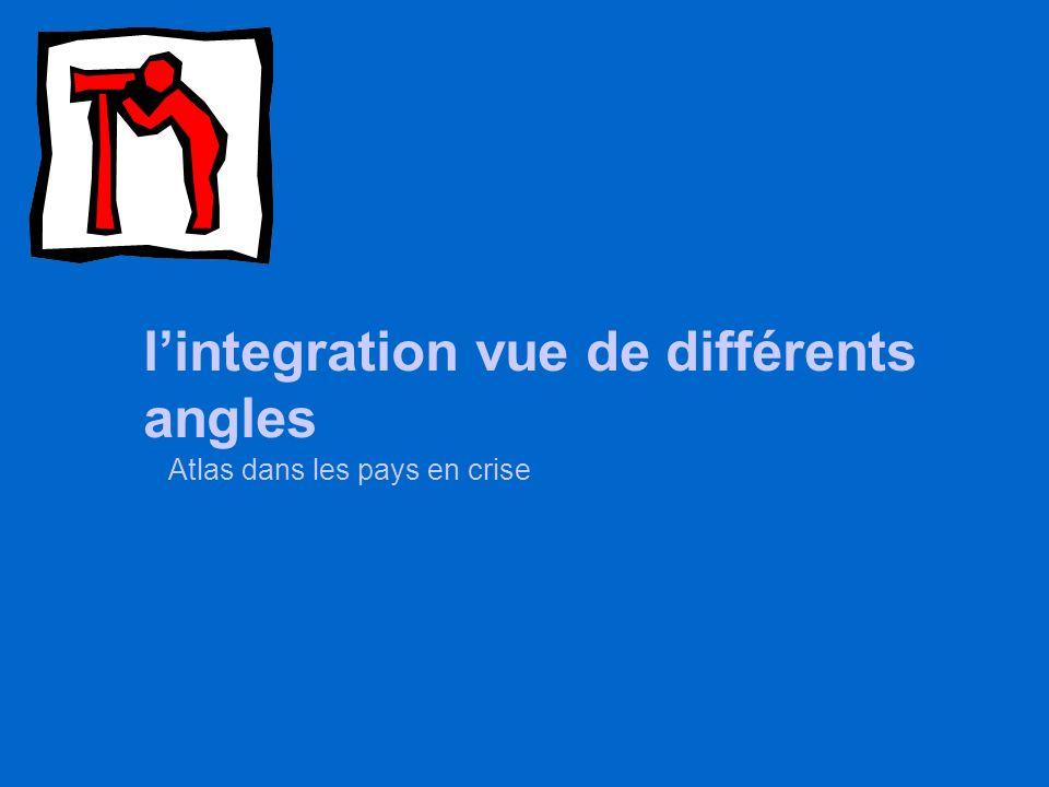 lintegration vue de différents angles Atlas dans les pays en crise